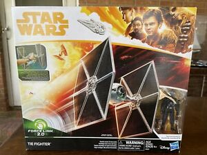 Star Wars SOLO TIE FIGHTER Vehicle with Pilot Figure Force Link Hasbro 2017 New