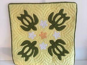 hawaiian handmade quilt pillow cover 18'/18' 100% COTTON w/ free shipping