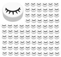 ☀️Lego 100x Round Tile Closed w/ Lashes Eye Parts Pieces Bulk Lot