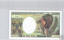 REPUBLIQUE POPULAIRE DU CONGO 10 000 FRANCS ND (1983) PICK 7 !!!!