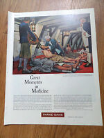 1961 Parke Davis Ad Great Moments in Medicine James Lind British Navel Surgeon