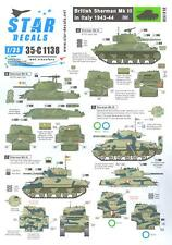 Star Decals 1/35 BRITISH SHERMAN Mk.III TANK in ITALY 1943-1944