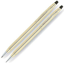 Cross 10k Rolled Gold Ballpoint Pen & 0.5mm Pencil Set New In Box 4501 Ireland