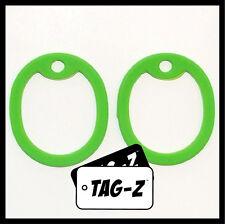 2 Lime Green Dog Tag Silencers - Military GI Silencer - Tag-Z