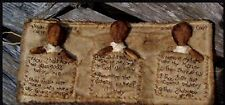 Primitive Pattern 10 commandments roll'N Church Dolls to Make! #BFP