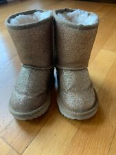 Ugg Boots Gold Glitter Toddler Girls Size 7