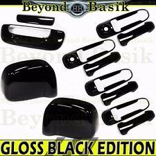 2002-2008 DODGE RAM 1500 GLOSS BLACK Door Handle COVERS W/2 KHLS+Mirror+Tailgate