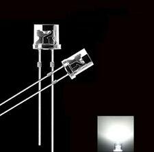 100PCS 5MM 2Pin Flat Top White LED Wide Angle Flat Head Light Lamp