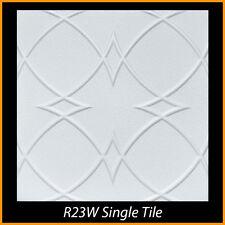 Ceiling Tiles Glue Up Styrofoam 20x20 R23 White Pack of 100 pcs 270 sq ft