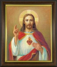 THE SACRED HEART OF JESUS FRAMED PICTURE STATUES CROSSES AND CANDLES LISTED M10