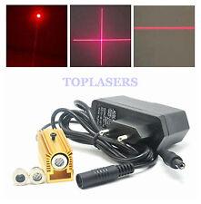 3in1 30mW 650nm Red Laser Diode Module Dot/Line/Cross w/ 5V Adapter & Heatsink