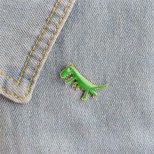 Pins Badge Corsage Brooch Jewelry Hk Cartoon Dinosaur Animals Girl Enamel Collar