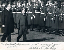 "New Zealand Sir Wallace Edward Rowling 1927-95 autograph signed 6""x8"" photo"