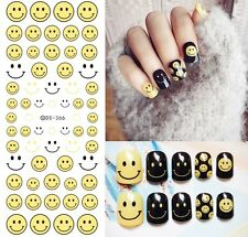 Nail Art Water Decals Transfer Stickers Emoji Mixed Emotion Kawaii Gel Polish