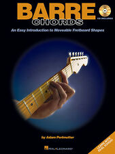 Barre Chords Easy Guitar Lessons Learn to Play Music Hal Leonard Tab Book CD NEW