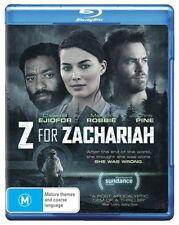 Z FOR ZACHARIAH (Chris Pine) -  Blu Ray - Sealed Region B