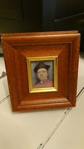 Fabulous Ecclesiastical Style Priest Print in a Wooden Gilt Edged Glazed Frame
