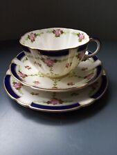 More details for antique george jones & sons crescent bone china trio made for harrods