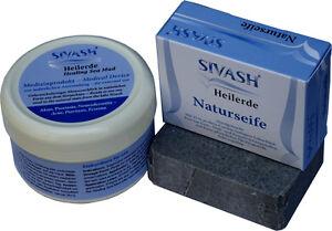 Natur-Behandlungsset: SIVASH-Heilerde Gesichtsmaske, 250 g + Naturseife, 100 g