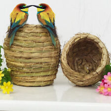 Bird Nest Woven Natural Straw Pet Parrot Pigeon Swallow Small Habitat House Cage