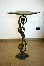 Tavolino in pietra lavica vesuviana pietrarsa e dragone in ghisa