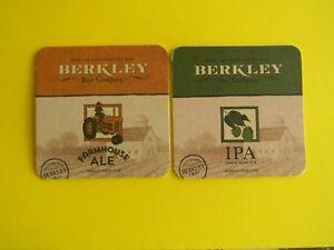 2 DIF. CRAFT BREWERY BEER COASTERS BERKLEY BEER COMPANY BERKLEY MASSACHUSETTS