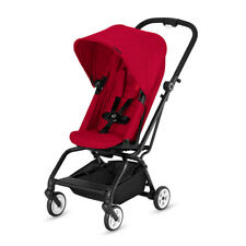Cybex Eezy S Twist Premium Baby Pram Stroller Rebel Red W Rotatable Seat