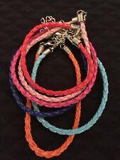 6 X Fashion Faux Leather Braided Bracelets Teens/Lady  Gift Casual Fashion