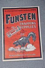 rare Funsen Trapping Supplies magazine catalog near prestine condition 1920's