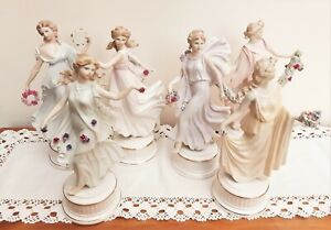 Wedgwood Dancing Hours Floral Girls Set of 6 Figurines Ltd Edt 7500 with COA