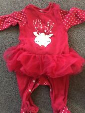 Baby Girls Christmas Sleepsuit with tutu 6-9 months