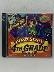 JumpStart 4th Grade Deluxe PC MAC CD learn numbers math science! 2CDs Ages 8-10