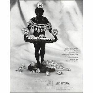 1948 Harry Winston: White Brilliance Vintage Print Ad