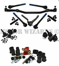 Front End Suspension MASTER Kit Tie Rod+Ball Joint+OVAL Bushings GM A-Body 71-72