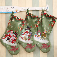 Portable Christmas Stocking Xmas Tree Ornament New Year Gift Xmas Candy Bag