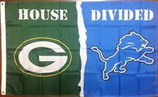 Green Bay Packers Detroit Lions House Divided 3'x5' Banner Flag