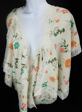 Womens 40 Innovations Vtg Boho Festival Shirt Floral Pullover Hippie Top NOS