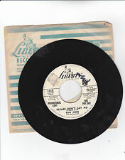 BILLY WARD AND HIS DOMINOES-LIBERTY 55181 PROMO DOO-WOP 45 PLEASE DON'T SAY NO