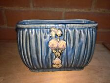 ANTIQUE WELLER POTTERY 1915 BLUE DRAPERY WINDOW BOX PLANTER