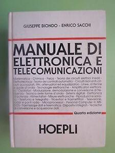 manuale di elettronica e telecomunicazioni quarta edizione 2004 hoepli LO17