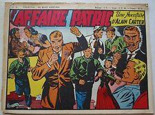 Alain Carter Reporter N° 36 L'Affaire Patric 1948