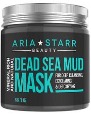 Aria Starr Dead Sea Mud Mask For Face Acne Oily Skin Blackheads Pore Minimizer