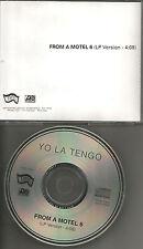 YO LA TENGO from A Motel 1993 USA PROMO Radio DJ CD single MINT PRCD 5402