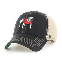 Georgia Bulldogs 47 Brand Black Trawler Clean Up Mesh Snapback Slouch Hat Cap