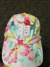 Polo Ralph Lauren Girls 7-16 Strap Back Floral Hat Big P logo.
