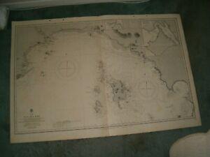 Vintage Admiralty Chart 2261 PANAMA BAY 1916 edn