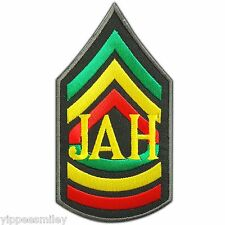 Jah Yah Yhwh Yahweh Jehovah Army Rasta Reggae Jamaica Hippie Iron-On Patch 0599
