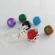 Markenlose Echtschmuck-Ringe im Solitär mit Akzentsetzung-Stil aus Sterlingsilber für Damen