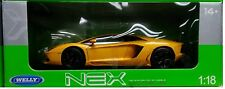 Lamborghini Aventador LP700 Die-cast Car 1:18 Welly 9 inches Yellow