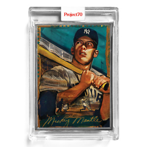 Topps Project 70 Card 100 - 1952 Mickey Mantle by Andrew Thiele Artist Proof /51